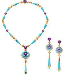 gold, diamond, amethyst, turquoise