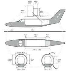 Piper PA-31 freighter diagram (ACS http://www.aircharterservice.com/)