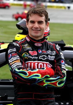 Jeff Gordon is my favorite NASCAR driver!  He has won 4 championships.  I'm his biggest fan!