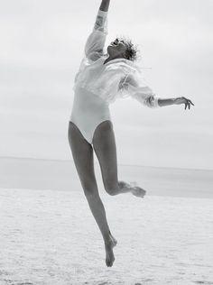 Charlize Theron. Jump.