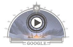 Google Doodle is today celebrating the 105th anniversary of first expedition to reach the South Pole. The doodle has depicted Roald Amundsen and his team at the finish line.