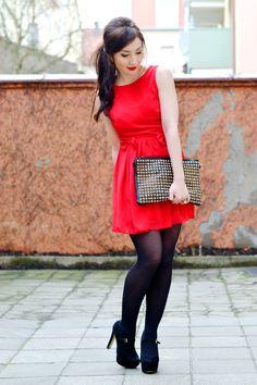 little red dress  http://www.flirting-with-fashion.blogspot.com