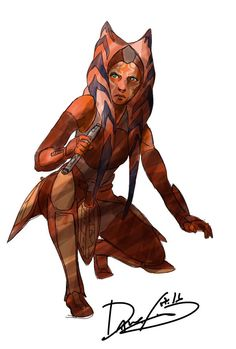 """""""I didn't have time to finish the background, but can you guess which planet Ahsoka was visiting?"""" - Dave Filoni"""