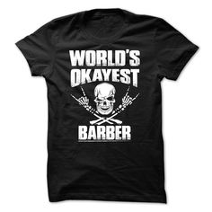 Awesome Barber T-Shirts, Hoodies. BUY IT NOW ==► https://www.sunfrog.com/Funny/Awesome-Barber-Shirt-16357118-Guys.html?id=41382