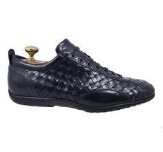 Calzoleria Toscana 7481 Blue Woven Calf Sneaker