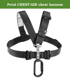 Petzl CHEST'AIR chest harness. The CHEST'AIR chest harness transforms the FALCON, FALCON MOUNTAIN, AVAO SIT and SEQUOIA SRT seat harnesses into full-body suspension harnesses. Connects simply to the harness ventral attachment point for rapid installation. It adapts easily to all body types with its DoubleBack self-locking buckles on the shoulder straps and ventral strap. Running the strap over the upper back improves comfort by distributing the weight of the user over the shoulders…