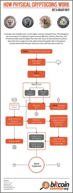 Trading Currency Infographic Data How Physical Cryptocoins Work Cur Description