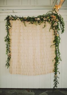 Beautiful photo backdrop at a Rustic Nashville wedding: Heather + Ryan