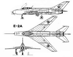 Mikoyan Gurevich Ye-2A (1955) fighter prototype and first direct precursor of MiG-21 Mikoyan Gurevich successive Ye-series prototypes (Ye-2, Ye-4, Ye-5) in 1950s resulted in creation of legendary MiG-21