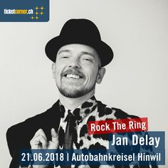 Am 21.6.18 gastiert Jan Delay am Rock The Ring in Hinwil. Tickets: http://www.ticketcorner.ch/rock-the-ring