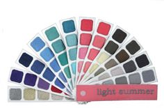 Light Summer Color Swatch Book
