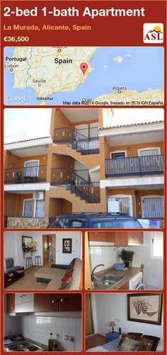 2-bed 1-bath Apartment in La Murada, Alicante, Spain ►€36,500 #PropertyForSaleInSpain