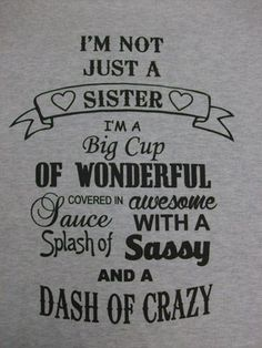 Its our Krazy Sister design...only in a crew neck sweatshirt for those chilly days and nights...  8-ounce, 50/50 cotton/poly pill-resistant air jet yarn Double