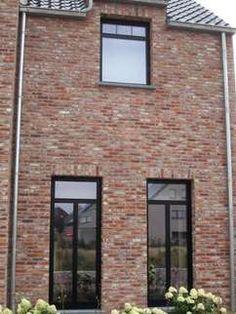 Exterior House Colors, Exterior Design, Saint Sauveur, European Style Homes, Belgian Style, Brick Building, House Windows, Build Your Dream Home, Stone Houses