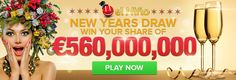 Lottery jackpots to make your dreams come true: € 560,000,000 El Nino Raffle $ 156,000,000 MegaMillions € 102,000,000 SuperEnaMax $ 110,000,000 Powerball $ 89,000,000 Mega-Sena Play it online here: http://ads.playukinternet.com/tracking.php/text/3113/12626/3368003/1