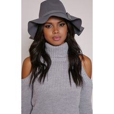 Keely Grey Floppy Fedora Hat-One Size (38.070 COP) ❤ liked on Polyvore  featuring accessories 9314ba68f099