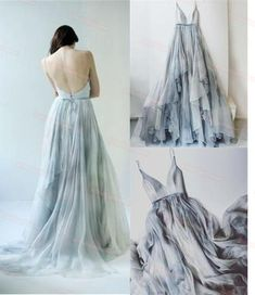 Simple Chiffon Prom Dresses,Evening Dresses,Sparkly A-line Backless Prom Dress For Teens,Prom Dresses 2017