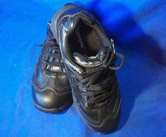 Converse Sure Grip Black Leather Athletic Shoe Men s 6 M C1100 Women s 8 M  C110   fc9439c7f