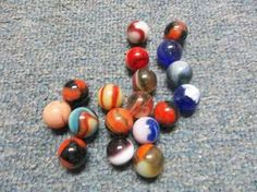 $12.00 Lot of 18 old collectible marbles