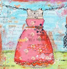 Items similar to She had big dreams Christy Tomlinson Mixed Media Print on Etsy Mixed Media Journal, Mixed Media Canvas, Mixed Media Collage, Collage Art, Collages, Collage Ideas, Art Ideas, Altered Canvas, Journaling