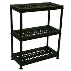Durable plastic shelving bay with drainage holes. Designed for use in greenhouses, sheds and garages. Garage Shelving, Storage Shelves, Plastic Shelving Units, Modular Design, Steel Metal, Indoor, Table, Greenhouses, Garages