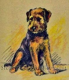 """""""Boxer""""~ Airedale Terrier ~ Dogs, Puppies ~ Counted Cross Stitch Pattern #StoneyKnobFarmHeirlooms"""