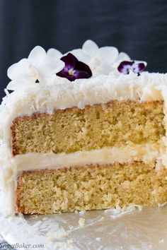 This delicious made-from-scratch coconut cake is infused with natural coconut flavor, and topped with a sweet-tangy cream cheese frosting. Ina Garten Coconut Cake, Homemade French Onion Dip, Best Ina Garten Recipes, Cake Recipes, Dessert Recipes, Dinner Recipes, Wing Recipes, Gf Recipes, Dessert Ideas