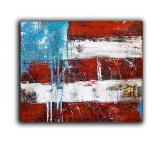 VERKAUF!  Titel: FLAG / U.S.  Diese abstrakte originale-Gemälde der US-Flagge wird auf 24 x 20 x 1,5 Leinwand gemacht. Dick-Texturen mit notleidenden städtischen Details.  100 % ORIGINAL – EIN-OF-A-KIND GEMÄLDE VON ERIN ASHLEY ©  HIGH-QUALITY-GALERIE GEWICKELT LEINWAND MIT SEITEN-1-1/2 ZOLL TIEF IN SCHWARZ LACKIERT  GEMÄLDE WERDEN MIT VORZEICHEN ECHTHEITSZERTIFIKAT ANKOMMEN.  SIGNIERT VON KÜNSTLER ENTWEDER FRONT ODER SEITE DER LEINWAND UND RÜCKSEITE LEINWAND  LEINWAND KOMMEN LAN READY ZU…