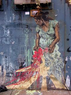 Swoon street art. #swoon http://www.widewalls.ch/artist/swoon/  info on swoon & art as transformative