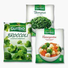 GUT BIO® Sortido de Legumes Biológicos De produção ecológica controlada; sortido: espinafres, brócolos ou mistura de brócolos com couve-flor e cenoura; ultracongelado; 750 g  unidade: 2.69 (kg = 3.59) - pt