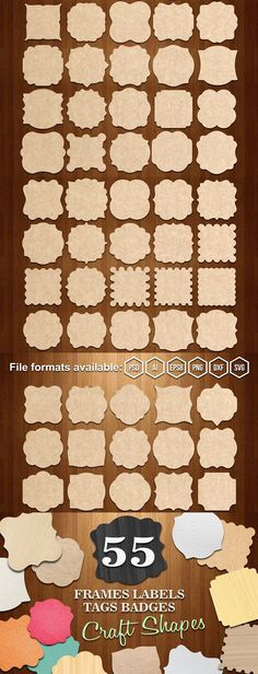 DESCRIPTION Personalize your own homemade gifts with frames elements. They also make cute gift frames cards ornaments elements and so much more festive Photoshop Shapes, Couponing 101, Engraved Frames, Sticky Labels, Organizing Labels, Scrapbooking, Cut Photo, Frame Crafts, Photo Craft