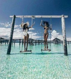 Best friends Endless summer Summer fashion Summer vibes Summer pictures Summer photos Summer outfits April 08 2020 at Nature Landscape, Maldives Travel, Maldives Trip, Maldives Destinations, Photo Couple, Foto Pose, Dream Vacations, Strand, Summer Vibes