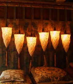 Fortuny Silk Lamps