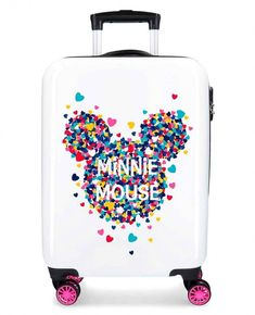 Troler calatorie copii ABS 4 roti 55 cm Disney Mickey and Minnie Magic Betsey Johnson Luggage, Disney Luggage, Cute Suitcases, Disney Handbags, Cute Luggage, Minnie, Disney Mickey, Luggage Accessories, Kabine
