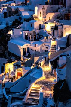 Photograph Nocturnal Whiteness by Anatoli Erekhinski on (Santorini, Greece) Vacation Places, Vacation Trips, Dream Vacations, Places To Travel, Places To Go, Beautiful Places To Visit, Beautiful World, Travel Pictures, Travel Photos