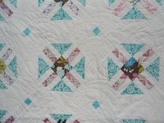Churn dash quilt by Lovedquilts on Etsy
