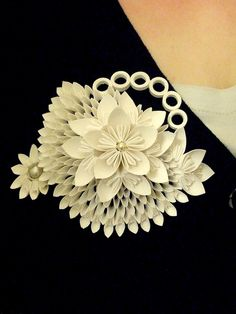 Me wearing my brooch. now finished by my_luvlee, via Flickr
