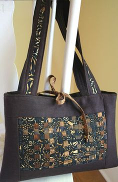 Woven Mosaic Purse – IJ876  sewing pattern from IndygoJunction.com