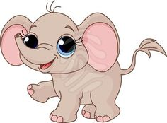 Cute Cartoon Elephants | Cute Cartoon Pictures Of Baby Animals | Frame Wedding