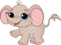 Cute Cartoon Elephants | Cute Cartoon Pictures Of Baby Animals | Frame Wedding
