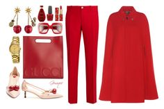 """""""Crystal Cherries"""" by gemique ❤ liked on Polyvore featuring Gucci and OPI"""