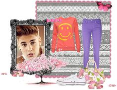 """""""Justin Bieber's concert"""" by nelly-5 ❤ liked on Polyvore"""