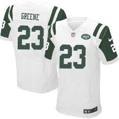 Elite Mens Nike New York Jets #23 Shonn Greene White Color NFL Jersey $129.99