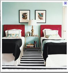 love this color palette for a guest bedroom