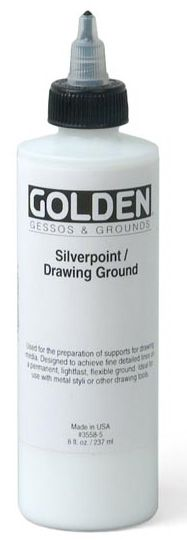 Silverpoint/Drawing Ground (8 fl oz): Made in USA by Natural Pigments