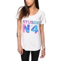 Stussy No. 4 Tie Dye Football T-Shirt