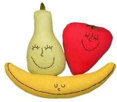 Organic Rattle & Play Food Set -Strawberry, Pear & Banana