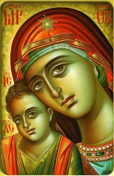 Byzantine Icons, Byzantine Art, Greek Icons, John Chrysostom, Madonna And Child, Art Icon, Orthodox Icons, Blessed Mother, Religious Art