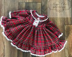 Hand Made Dress sizes 12 mths,to 7 yrs Elegant Toddler Dress. Kids Christmas Outfits, Kids Outfits, Frilly Dresses, Nice Dresses, Baby Dress Patterns, Tartan Dress, Event Dresses, Baby Girl Dresses, Dress Making