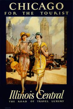 Vintage travel posters. Chicago